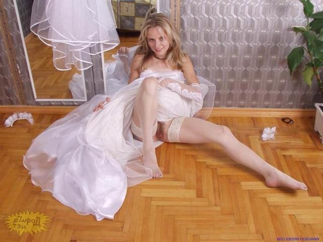 Девушки в свадебных нарядах оголили формы - секс порно фото